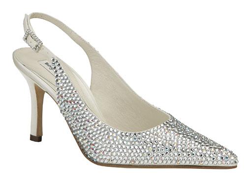 水晶新娘鞋打造闪亮奢华风(组图)